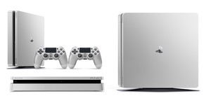 Consola Ps4 500GB Slim Silver + 2 Mandos