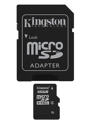 Memoria Micro Sd 16Gb Sdhc Kingston Clase 4 + Adapt Sd