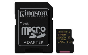 Memoria Micro Sd 64Gb Kingston Cl10 Uhs-I(U1)+Adapt Sd