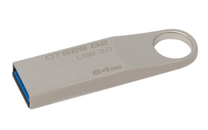 Pendrive 64Gb Usb3.0 Kingston Dt Se9 G2 Plata