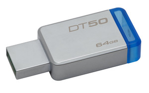 Pendrive 64Gb Usb 3.1 Kingston Dt50 Azul