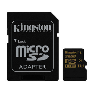 Memoria Microsd Gold 32Gb Kingston Uhs-I Cl3(U3)+Adapt
