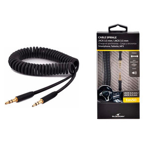 Cable Audio Jack-3.5M A 3.5M 1.5M Bluestork Caraux