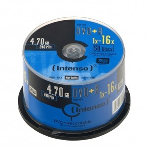 Intenso Dvd+R 4.7Gb 50Pcs 16X Tarrina
