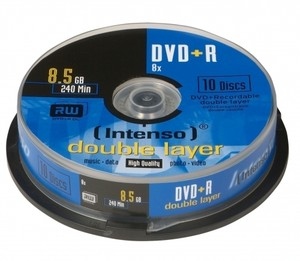 Intenso Dvd+R 8.5Gb Dl 10Pcs 8X Tarrina
