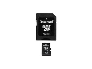 Memoria Micro Sd 64Gb Intenso Cl10 + Adapt Sd