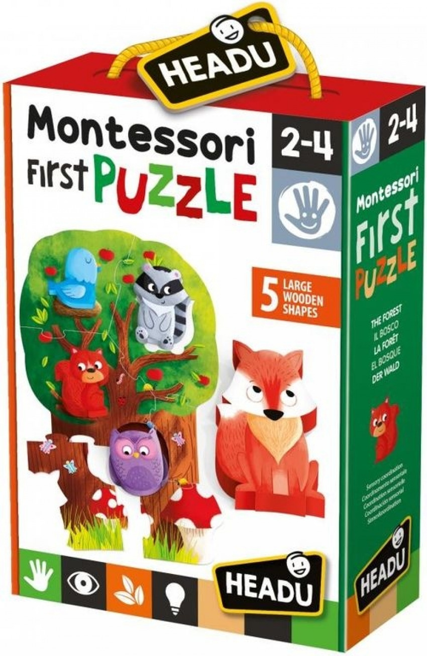 Montessori my first puzzle - the forest, coordinación sensorial.
