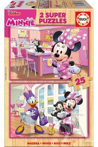 PUZZLE MADERA 2X25 MINNIE HAPPY HELPERS