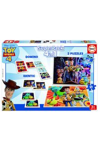 SUPERPACK 4 EN 1 TOY STORY 4: PUZZLES DOMINO IDENTIC