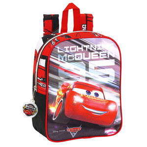 Mochila guardería adaptable carro Cars 3 22x27x10cm
