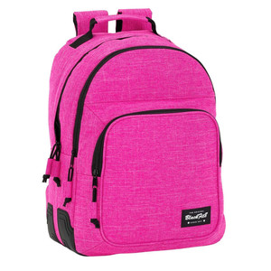 DAY PACK DOBLE ADAPTABLE A CARRO BLACKFIT8 PINK 32x42x15cm