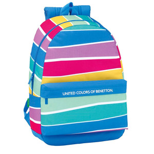 DAY PACK ADAPTABLE CARRO BENETTON STRIPES 30x46x14cm