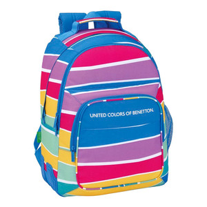 DAY PACK DOBLE ADAPTABLE CARRO BENETTON STRIPES 32x42x15cm