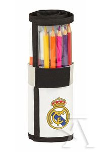 PLUMIER ENROLLABLE 27 PIEZAS. REAL MADRID 7x20cm