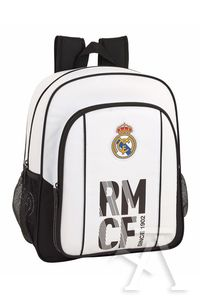 MOCHILA JUNIOR ADAPTABLE CARRO REAL MADRID 32x38x12cm
