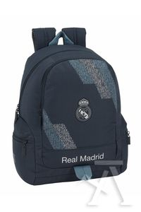 MOCHILA ADAPTABLE CARRO REAL MADRID BLACK 32x43x17cm