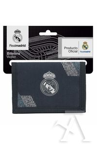 BILLETERA REAL MADRID BLACK 12,5x9,5cm