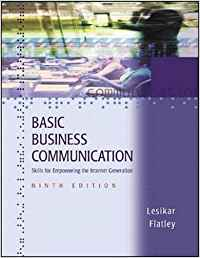 BASIC BUSINESS COMMUNICATION: SKILLS FOR EMPOWERING THE INTERNET GENERATION WITH STUDENT CD-ROM - IS