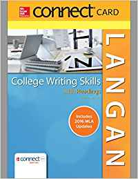 COLLEGE WRITING SKILLS W/RDGS.-CONNECT+