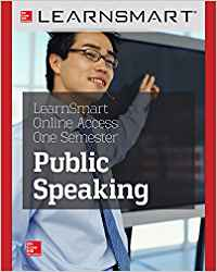 LEARNSMART 180 DAYS ONLINE ACCESS FOR PUBLIC SPEAKING