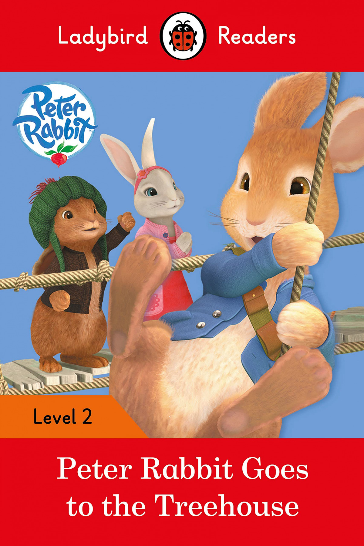GOES TO THE TREEHOUSE. PETER RABBIT