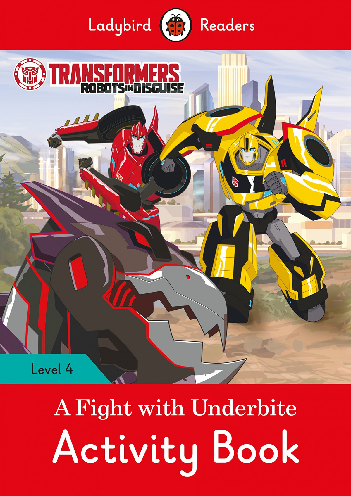 A FIGHT WITH UNDERBITE. TRANSFORMERS. ACTIVITY BOOK