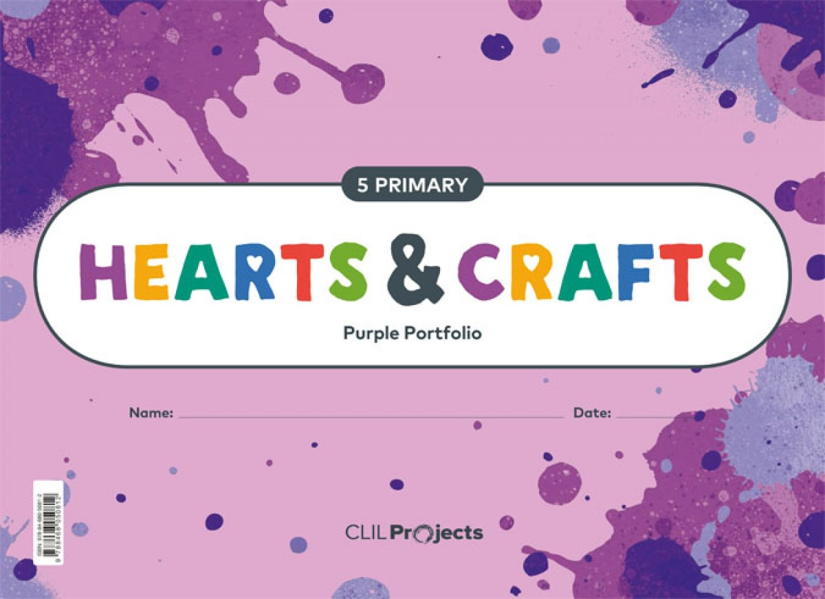 HEARTS & CRAFTS PURPLE NOTEBOOK I ED19 5 PRIMARY