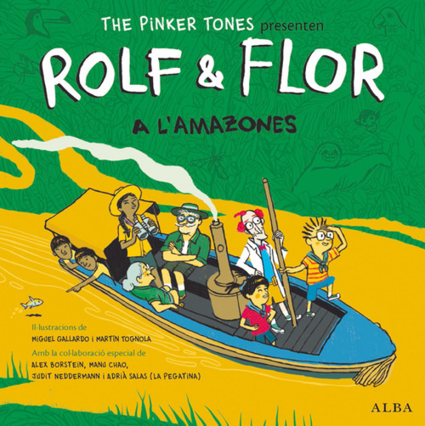ROLF & FLOR A L'AMAZONES +CD (CAT-ING)