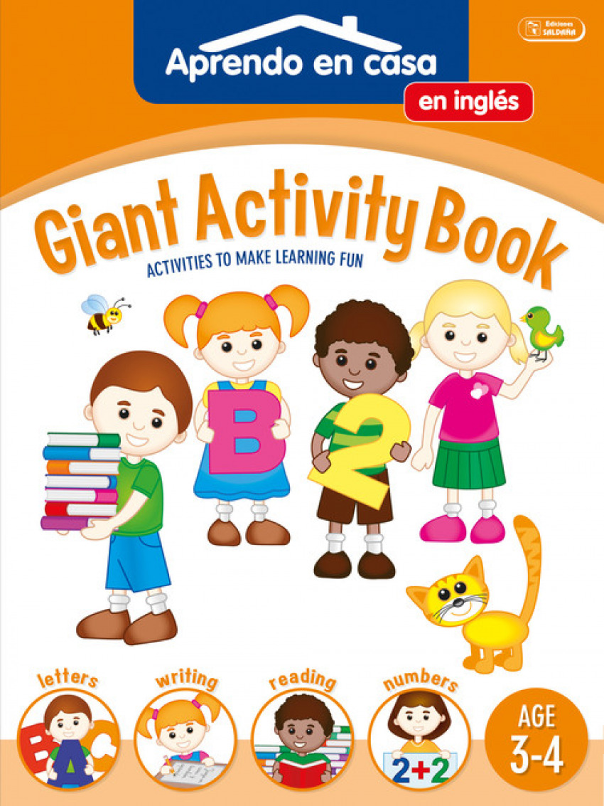 GIGANT ACTIVITY BOOK (AGE 3-4)