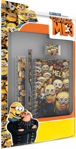 DISNEY MINIONS ME3 FUN SET WITH NOTEBOOK