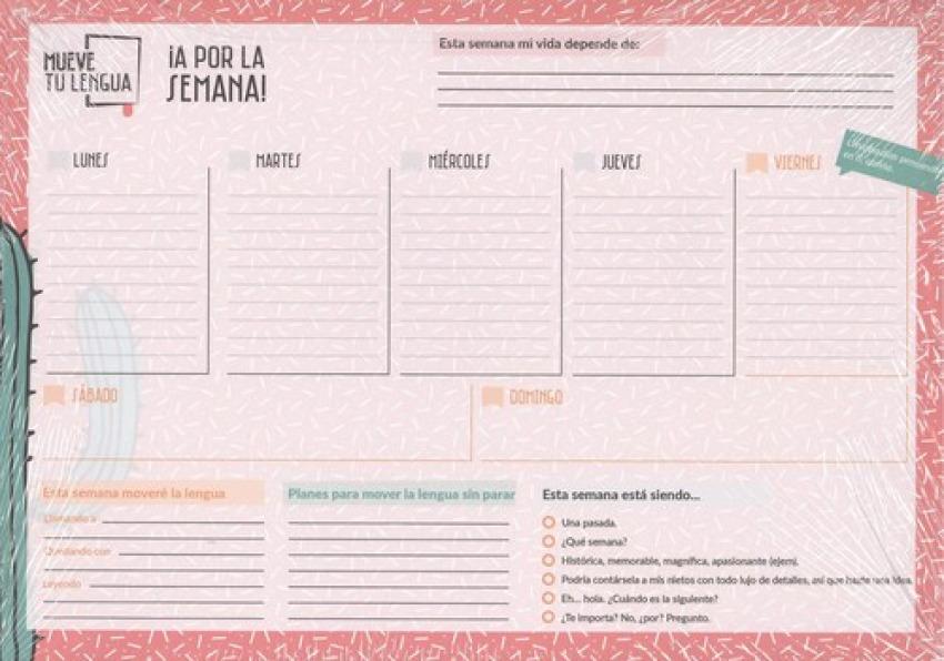 Planificador semanal: a por la semana!