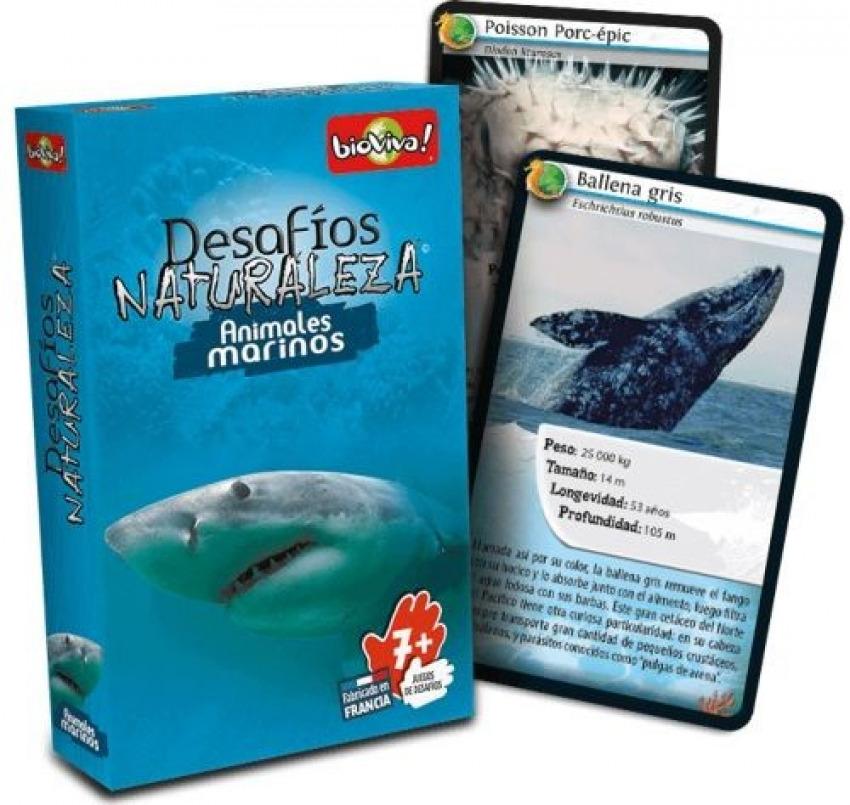 Cartas desafios naturaleza animales marinos