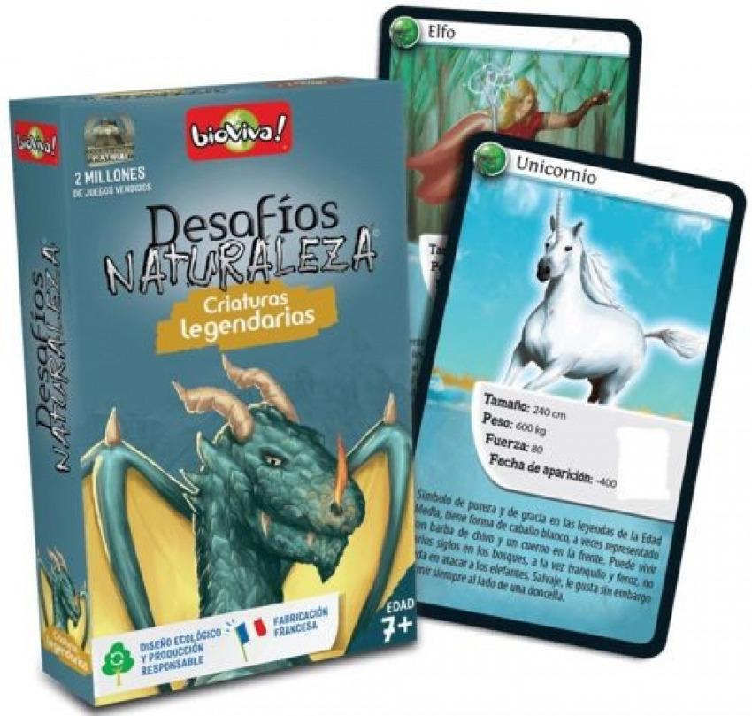 Cartas desafios naturaleza criaturas legendarias
