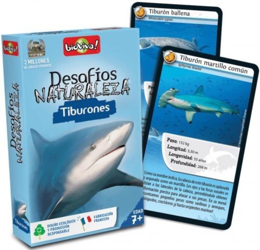 Cartas desafios naturaleza tiburones