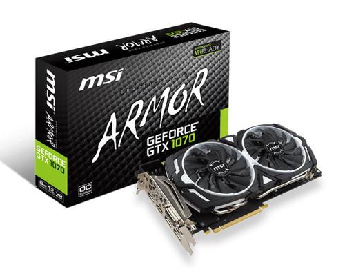 Gráfica MSI GTX 1070 ARMOR 8GB OC GDDR5