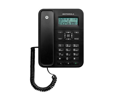 340256b0db1 MOTOROLA CT202 NEGRO TELEFONO FIJO CON AMPLIA PANTALLA - LIBRERIA DANTE