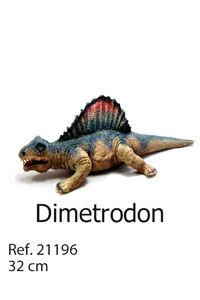 DINOSAURIO DE LATEX DIMETRODON 32CM TALLA-S