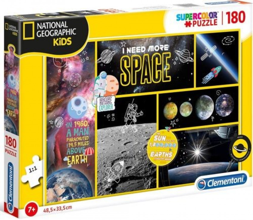 NATIONAL GEOGRAPHIC I NEED MORE SPACE PUZZLE 180 PIEZAS