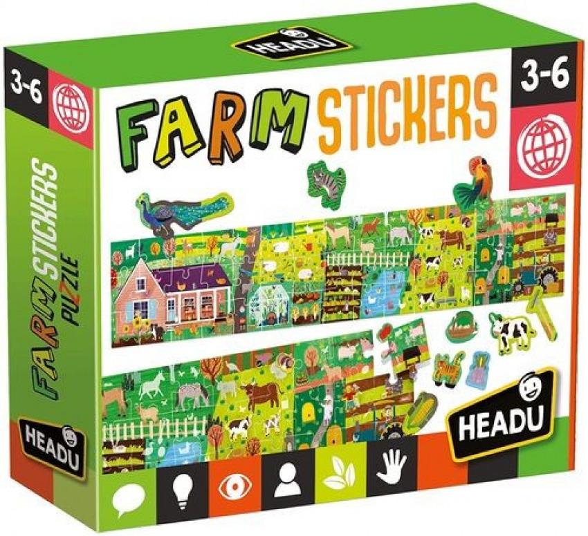 FARM STICKERS PUZZLE