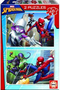 SPIDER-MAN PUZZLE 2X48 PIEZAS