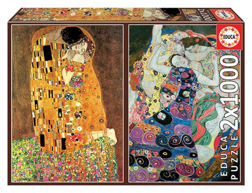 EL BESO + LA VIRGEN, GUSTAV KLIMT PUZZLE 2x1000 PIEZAS