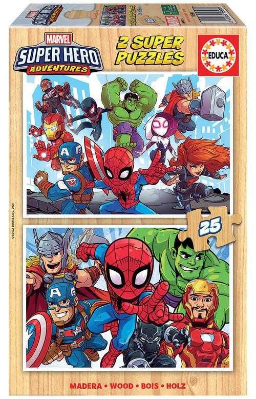 MARVEL SUPER HEROE ADVENTURES PUZZLE 2X25 PIEZAS
