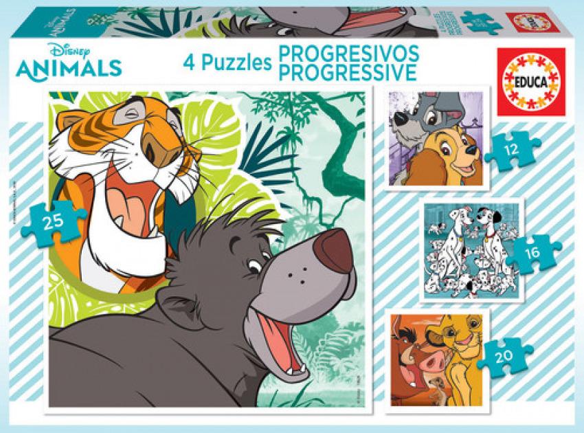 PROGRESIVOS DISNEY ANIMALS 2 LADY&TRUMP, 101 DALMATIANS, LION KING, JUNGLE BOOK