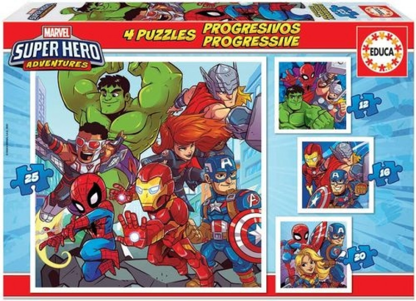 PROGRESIVOS MARVEL SUPER HEROE ADVENTURES 12-16-20-25 PIEZAS