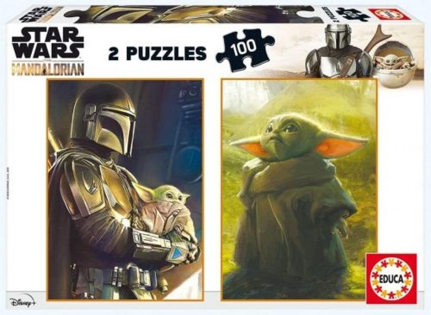 Star wars the mandalorian 2 puzzles 100 piezas