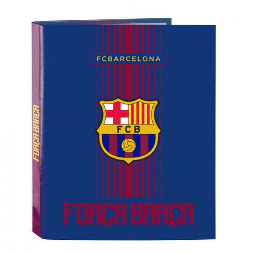 Carpeta Fº 4 anillas lomo ancho FC Barcelona 27x33x6cm