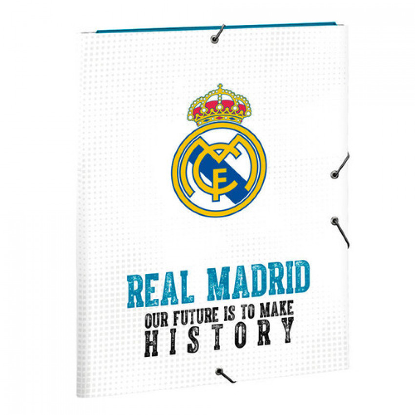 Carpeta Fº 3 solapas Real Madrid 26x33,5cm