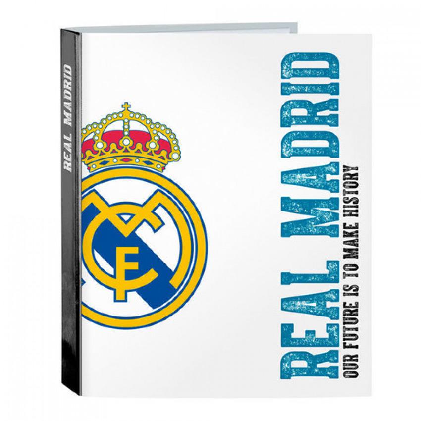 Carpeta Fº 4 anillas lomo ancho Real Madrid 27x33x6cm
