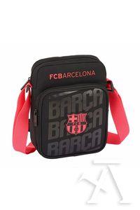 BANDOLERA PEQUEÑA F.C. BARCELONA BLACK 16x22x6cm - Librería Canseco 80d44dab2c7