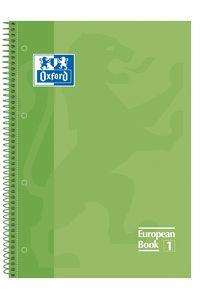 Paq//5 cuaderno espiral europeanbook1 naranja a4 80h 90g cuadricula 5x5